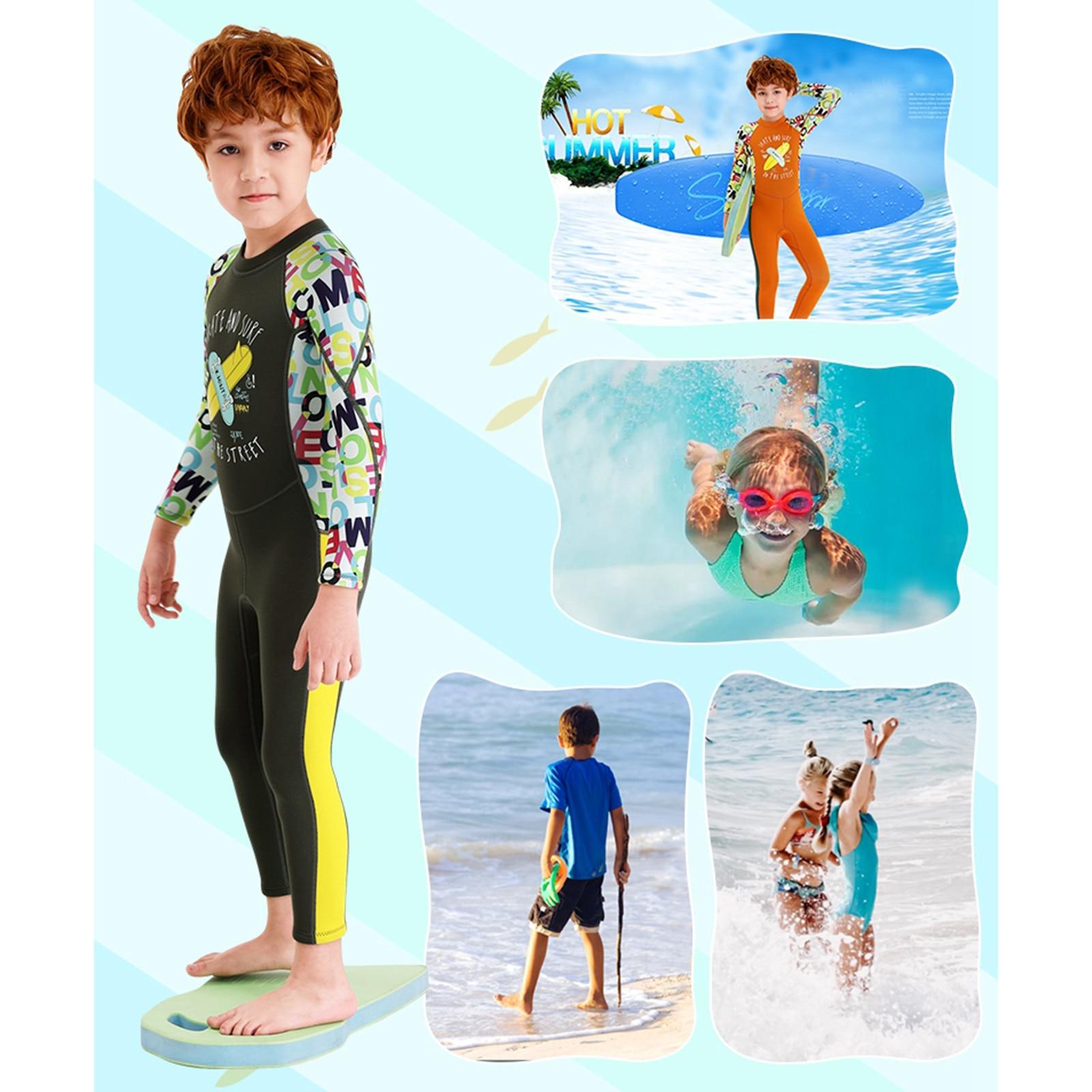 Kinder Neoprenanzug Premium 2,5mm Neopren Ganzkörper Tauchen Anzug