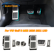 Xburstcar Stainless Steel Car Pedals for Volkswagen VW Golf 8 MK8 2020 2021 LHD Gas Brake Pedal Protection Pad Cover Parts