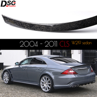 Forged Carbon Fiber (Also Called Chopped Carbon Fiber) Spoiler For 2004 - 2011 CLS Class W219 OEM Fitment Gloss Finish