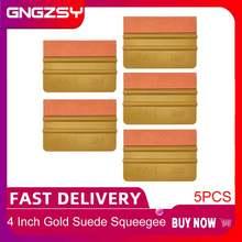 5 шт Золотой мульти пластиковый скребок из углеродного волокна