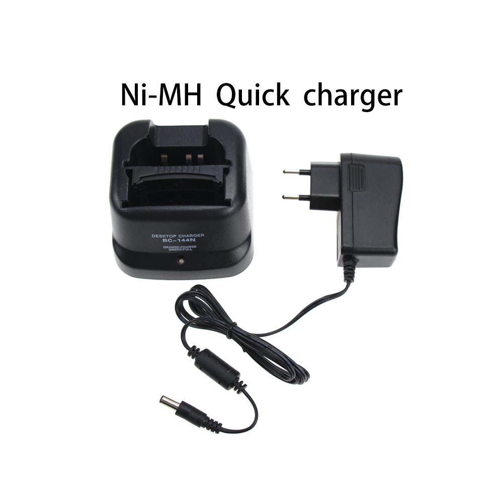 BC-144N Desktop Rapid Charger For Icom BP-209N BP-210N IC-A6 IC-A24 IC-F4GT IC-F30GT IC-F11