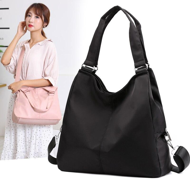 SUNNY SHOP Waterproof Handbag Women Ladies Nylon Shoulder Bag Tote Bag Large Capacity Fashion Messenger Bag Casual Hobos