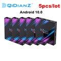 5 шт. в партии H96 Max 3318 rockchip Android 10 TV Box 2,4G/5G Wifi RK3318 четырехъядерный BT4.0 TV Set Box H96Max plus Android 9 Box