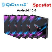 5pcs a lot H96 Max 3318 rockchip Android 10 TV Box 2.4G/5G Wifi RK3318 Quad Core BT4.0 TV Set Box H96Max plus Android 9 Box