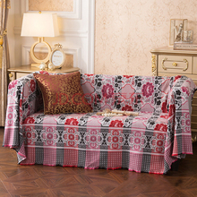 Sun flower thread blanket retro double-sided fashion sofa towel thick sheets tablecloth nap beach knitted cover blanket  betty
