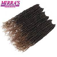 18inch Pre Twists Synthetic Braids Passion Twist Crotchet Hair Extensions Ombre Braiding Hair Pre Looped Mirra's Mirror