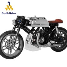 BuildMoc techniczny Model motocykla moto-bike MOC-21468 Bobber Cross 21506 Coffee Rider Cafe Racer klocki prezent