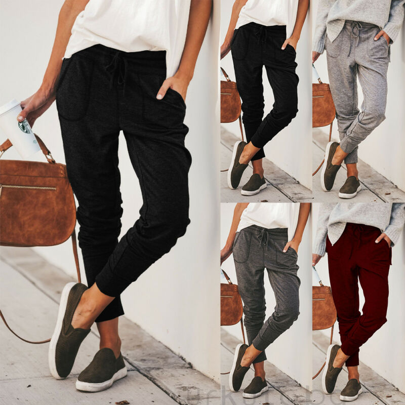 New Women Jogger Pants Casual Loose Drawstring Sweatpants Sports Soft Harem Trousers Fitness Outdoor Mountain Climbing Pants
