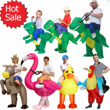 Halloween Purim gonfiabile bambino adulto costume del partito dei capretti dinosauro unicorno donne costume di Halloween per i bambini Giro sul Costume