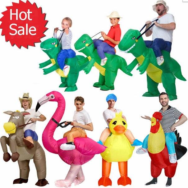 Надувной детский костюм Purim на Хэллоуин, вечеривечерние, динозавр, единорог, Женский костюм на Хэллоуин, Детский костюм для катания