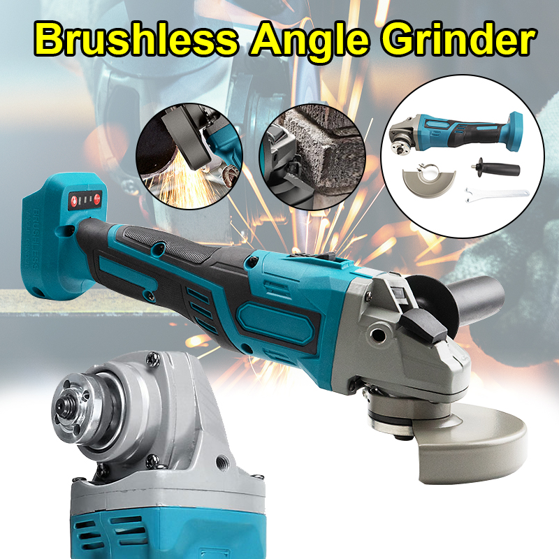 Cordless Grinding DIY 18V For Electric Brushless Impact Without Polishing Battery Tools Power Grinder Makita Angle Machine 125mm