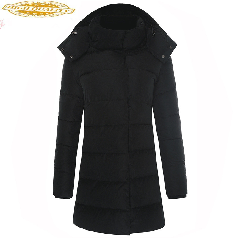 Long Winter Duck Down Jacket Women Down Coats Korean Slim Puffer Jacket Women Warm Parka Chamarras De Mujer A01120