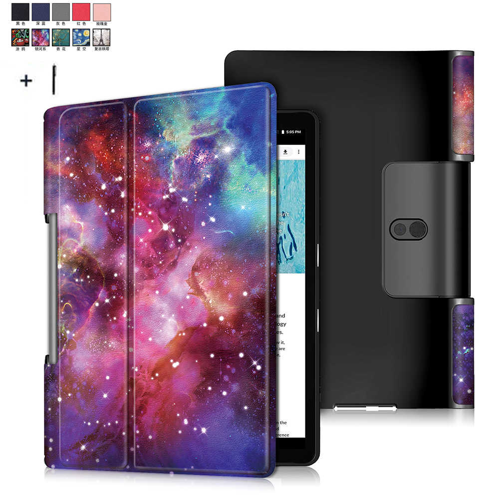 Voor Lenovo Yoga Smart Tab YT-705F Case Cover Voor Yoga Tab 5 YT-705F 10.1 ''Flip Leather Stand Capa Funda + Stylus