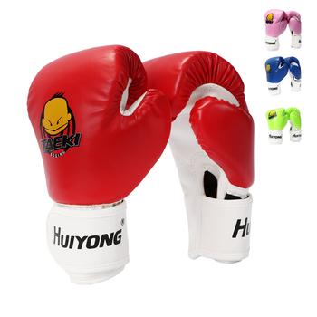 4 kolorowe dzieci rękawice bokserskie dla dzieci rękawice do walk szkolenia Muay profesjonalne twarzy oddychająca skóra PU rękawice Mma 4oz tanie i dobre opinie Dziecko 200g