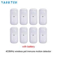 Yankton mais novo 433 mhz sem fio anti pet detector infravermelho wi fi inteligente casa segurança host alarme pir detector de movimento & sensores|Sensor e detector| |  -