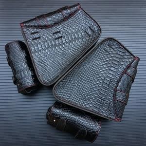 Image 3 - حقيبة سرج من جلد البولي يوريثان للدراجات النارية ، حقيبة أدوات جانبية ، تخزين لهارلي سبورتستر 883 1200XL ، وحدتان