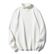 Men Solid Color Turtleneck Sweater Men Slim Warm Casual Sweater Autumn Winter Fashion Turtleneck Sweater Male