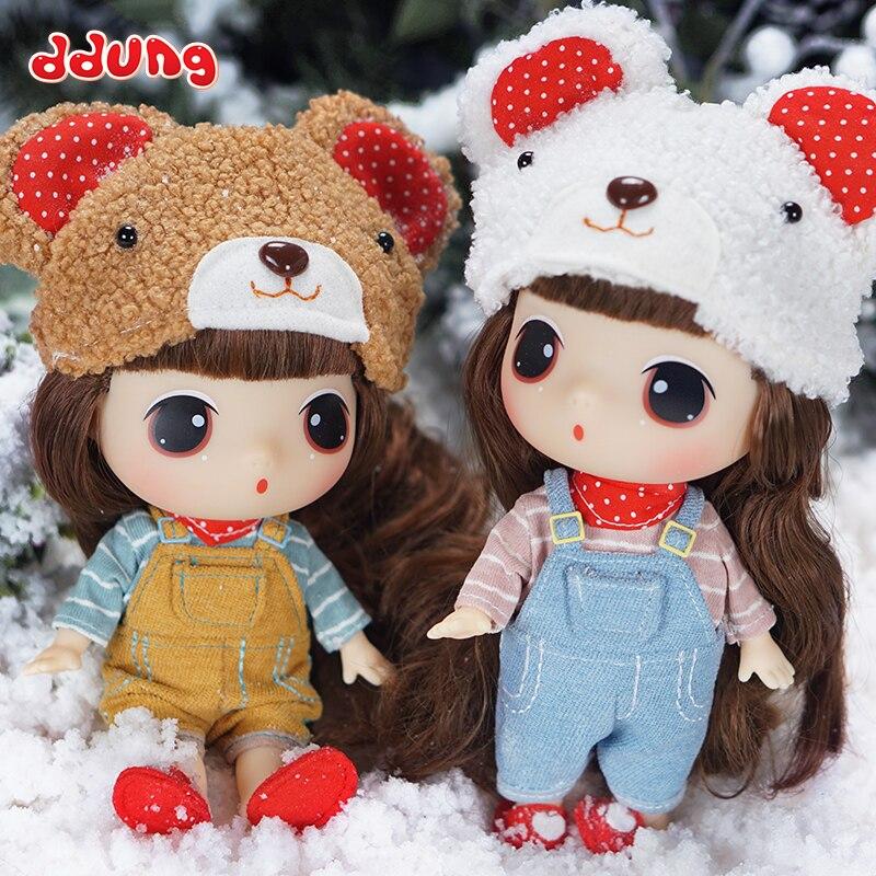 Ddung Baby куклы-панды с плечевым ремнем медведь милый 3 года + платье 18 см фигурка виниловый подарок на день рождения для девочек