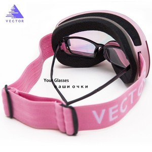 Image 2 - OTG Ski Snowboard Goggles Women Men Skiing Eyewear Mask UV 400 Snow Protection Glasses Adult Double Spherical Mirrored Magnetic