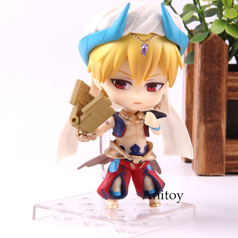 990 Anime FGO Fate Grand Order Gilgamesh Action Figure Cute Version PVC Collection Model Toys 9cm