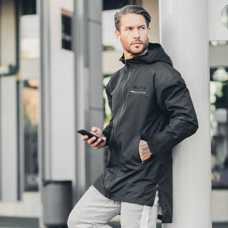 New Winter Autumn Hoodies Sport Shirt Men Hooded Zipper Running Jackets Fitness Gym Sports Clothing Sport Top Men's Sportswear