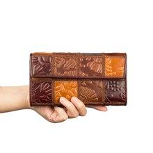 JMD Genuine Leather Long Purse Women Wallet For Lady Clutch Bags 3 Model-8097