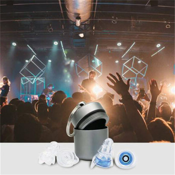 1 Pair Ear Plug Noise Cancelling Hearing Protection Earplugs for Concerts Musician Motorcycles Reusable Silicone Ear Plugs