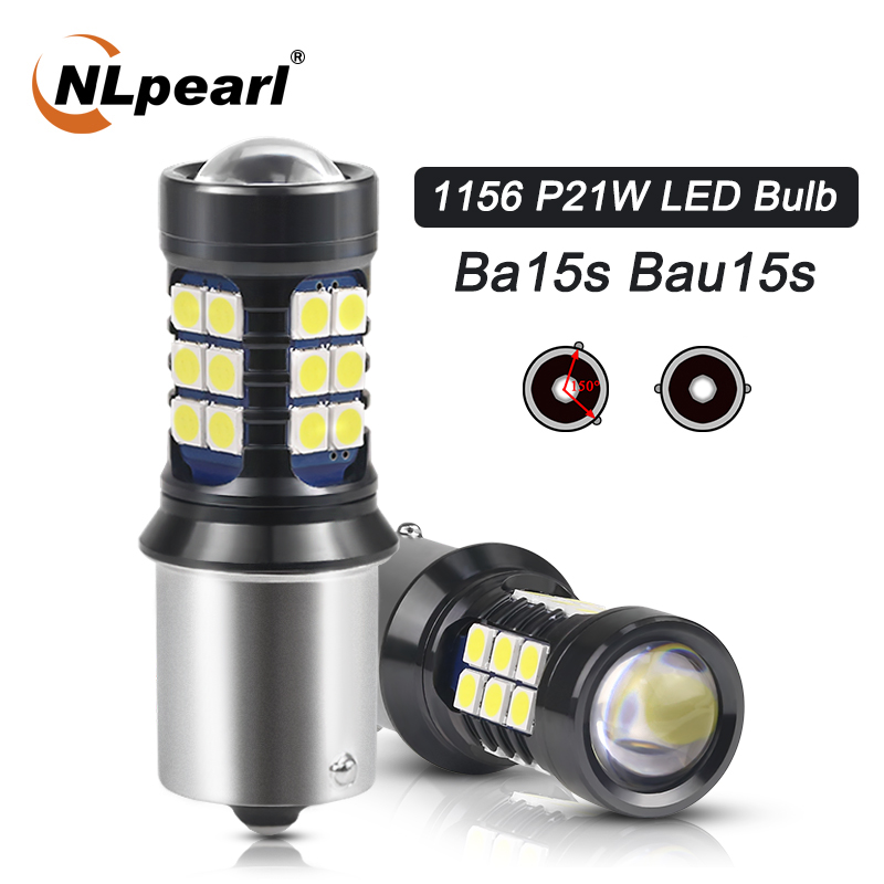 NLpearl 2x сигнальная лампа BA15S P21W светодиодный 1156 BAU15S Сигналы поворота автомобиля светильник 1157 BAY15D P21/5 Вт светодиодный 3030SMD авто задние фары 12V