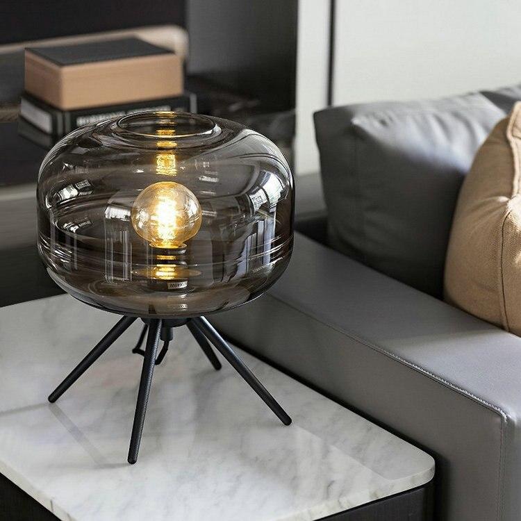 Nordic designer candeeiro de mesa vidro abajur