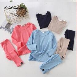 100% algodão da criança pijamas conjuntos 2 pçs conjunto de topo + calças manga longa bebê menina roupas de dormir crianças 1 2 3 4 5 6 anos
