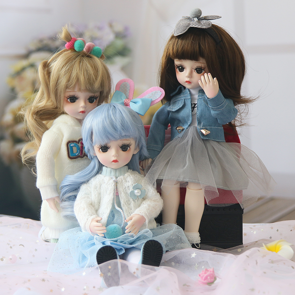 Bjd Doll 30CM Gifts For Girl 18 Joints DIY Dolls With Clothes Best Gifts For Girl Handmade Beauty Toy 1/6 BJD
