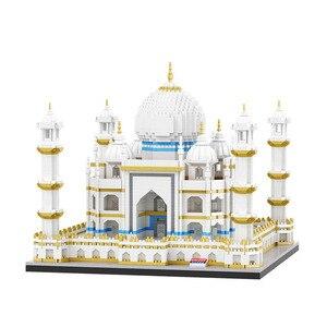 Image 3 - Mini Blocchi di Diamante Architettura Mattoni Giocattolo della Cattedrale di San Basilio Taj Mahal Bambini Compatibile Città Regali