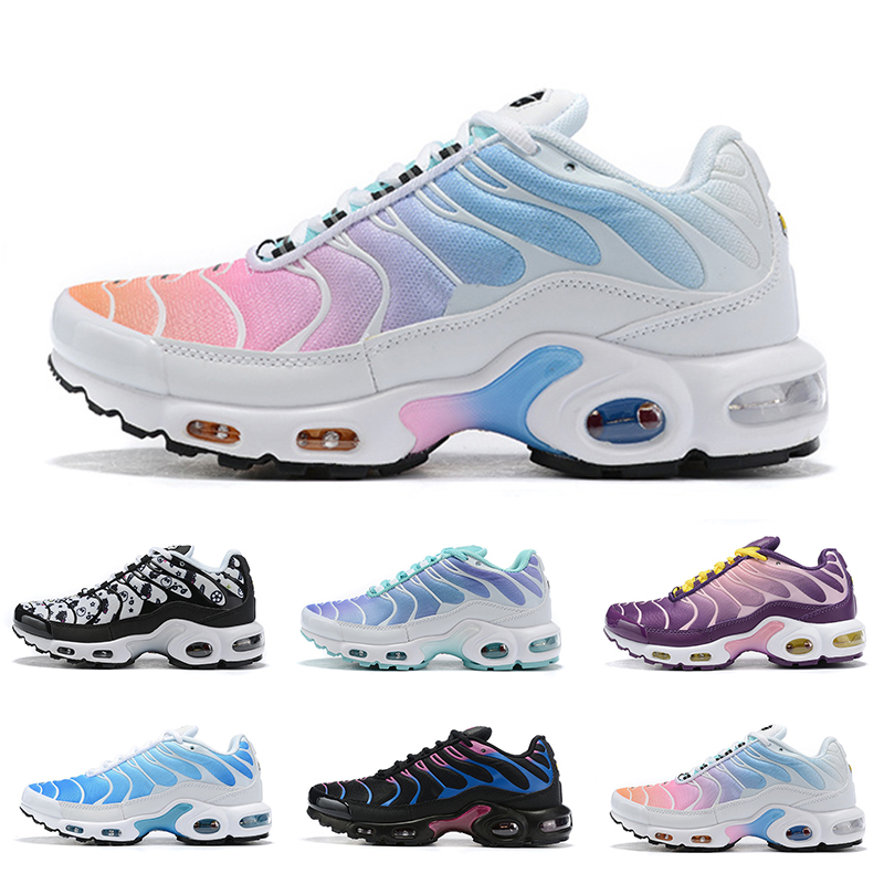 New Rainbow Girl Black Green TN Plus TN Ultra SE Running Shoes Lady Women Silver Gold Orange Athletic Sport Shoes