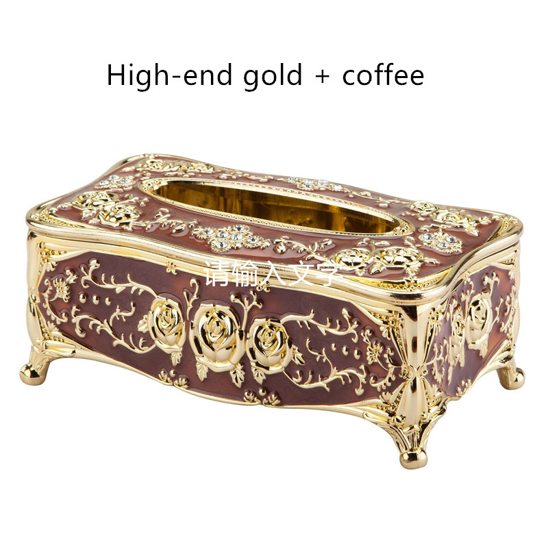 European-style luxury tissue box universal paper holder office desk pumping paper family KTV hotel car storage tissue