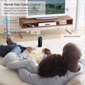 Image 3 - חכם WiFi מתג 3 כנופיית זכוכית פנל אור מגע מתג RF433 חכם חיים Tuya APP שלט עובד עם Alexa google בית