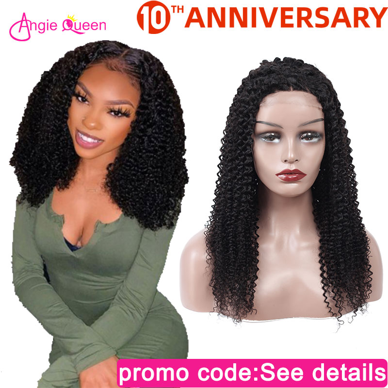 Kinky Curly Lace Front Human Hair Wigs Brazilian Hair Wig 150% 13x4 Closure Wig Remy Hair 100% Human Hair Wig 10 12 14 16 18 20
