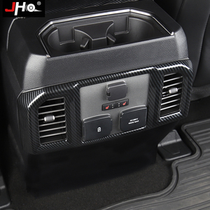 Image 5 - JHO ABS Carbon Korn Hintere Center Konsole Panel Vent Outlet Abdeckung Trim Für Ford F150 RAPTOR 2015 2020 2018 2019 2017 zubehör