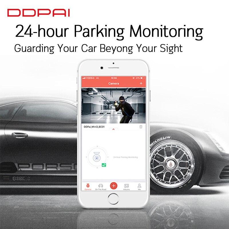 Global Version DDPai Mini3 Dash Cam DVR English Language 32GB 1600P HD Recording Camera 24H Parking Monitor Build in eMMC - 3