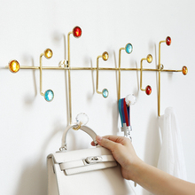 wall décor Metal stainless hook Hanger wall hooks for clothes coat hat bag towel bathroom living room kitchen key holder rack