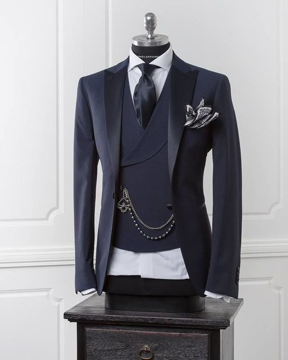 Latest Coat Pant Designs Navy Blue Wedding Suits For Men Terno Slim Fit 3 Piece Formal Tuxedo Custom Groom Prom Blazer Vestidos