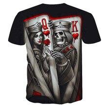 Nouveau décontracté crâne Poker imprimé 3D T-Shirt hommes à manches courtes T-Shirt Homme noir Design T-Shirt hauts hommes été hauts livraison directe