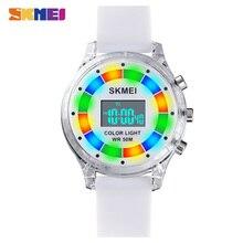 2020 SKMEI Boys Girls Electronic Wrist Watches 50M Waterproof Stopwatch Calendar Alarm LED Light Digital Clock For Kids Children