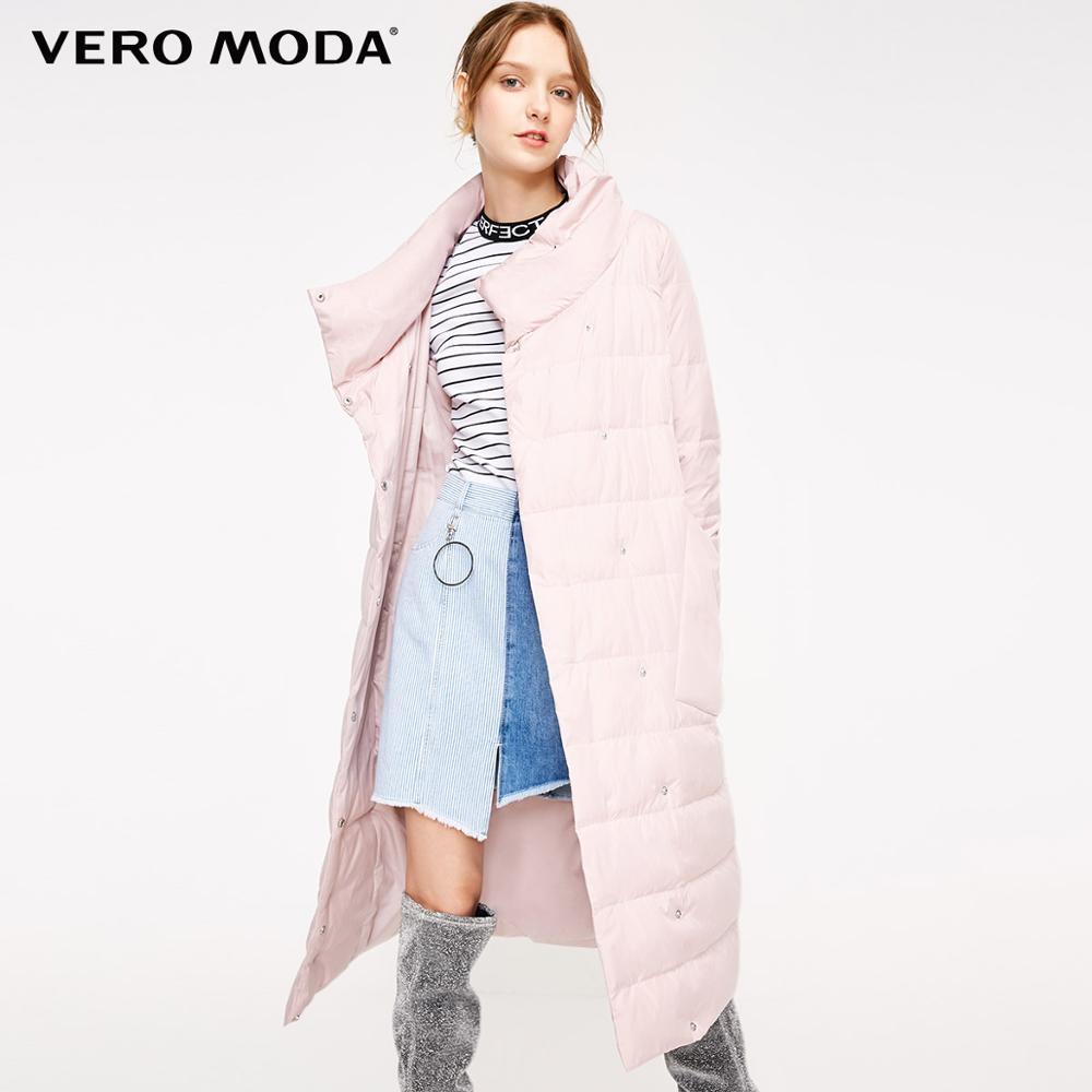 Vero Moda New 90% White Duck Down Side Pocket Oversize Long Down Jacket Women | 318312511