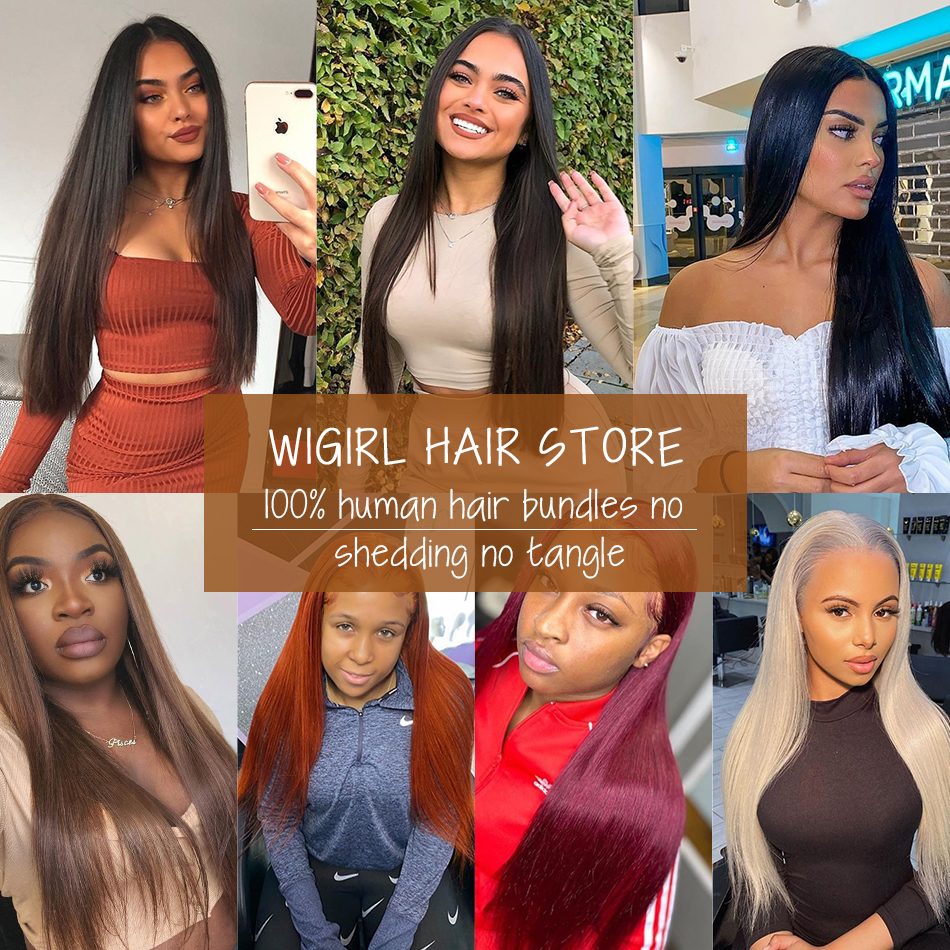 Wigirl Straight 28 30 32 40 Inch     Bundles Natural Color 100%   6