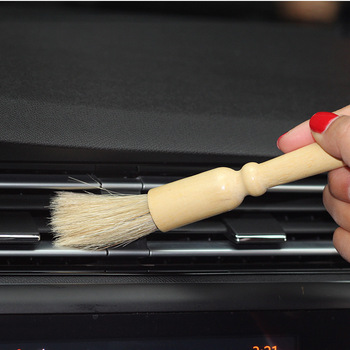 Natural Boar Car Detailing Brush Cleaning Brushes Auto Detail Tools Dashboard Car-Styling Accessories