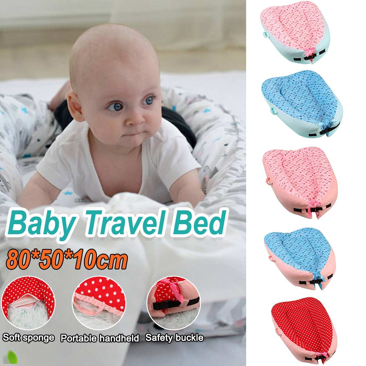 Portable Newborn Baby Nest Bed Crib And Washable Crib Travel Bed For Children Infant Kids Cotton Cradle Travel Bed