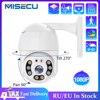 MISECU 1080P PoE IP Kamera 2MP PTZ Kamera Speed Dome Outdoor Onvif Zwei wege Audio Ai Menschliches Erkennen Alarm sicherheit Kamera TF Karte