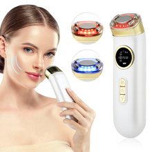 Ems Radiofrequency Beauty Device Colorful Led Light Ultrasonic Rf Skin Rejuvenation Face Lifting Machine Anti Wrinkle Skin Care