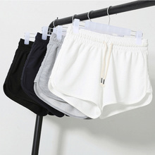 Summer Solid color shorts Women 2020 Tether shorts Casual running shorts Female Loose Beach Sexy Short Plus Size S-XXL cheap COTTON Polyester Ages 16-28 Years Old Drawstring High REGULAR