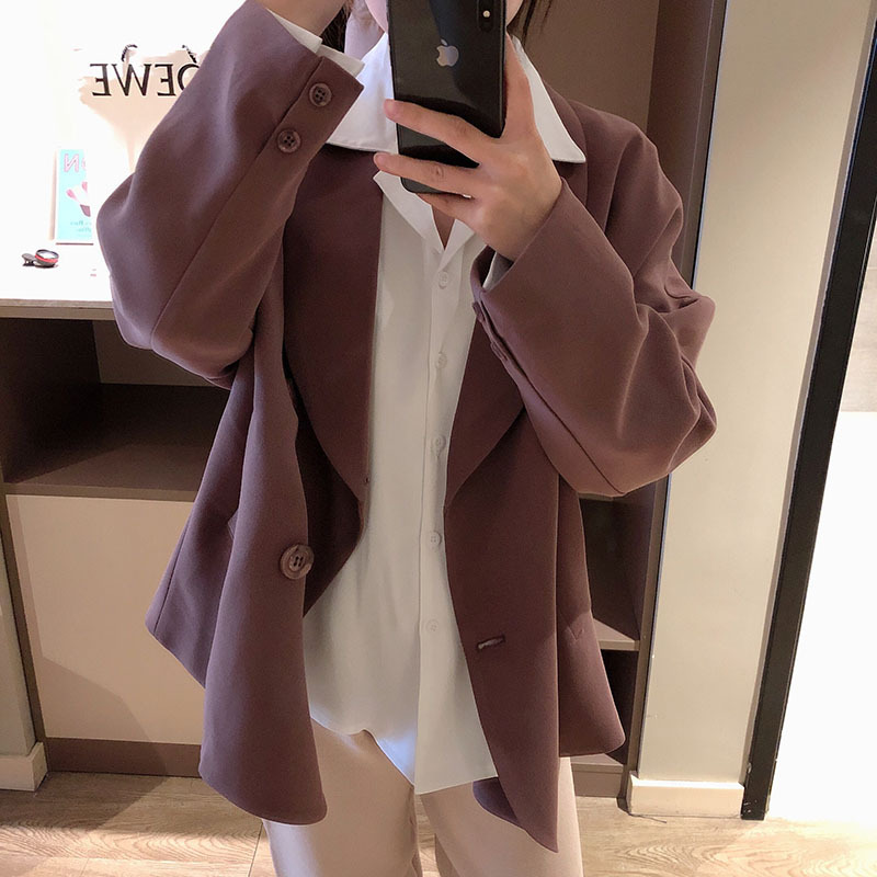 Fashion Women's Blazer 2019 Autumn New Solid Color Loose Long-sleeved Jacket Suit Female Wild Fashion Ladies Jacket